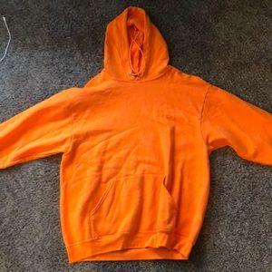 Orange hoodie (L) Men's